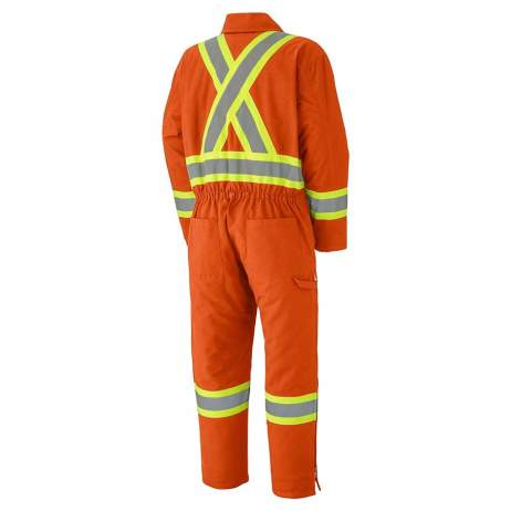 Insulated Cotton Duck Hi-Viz Safety Coveralls