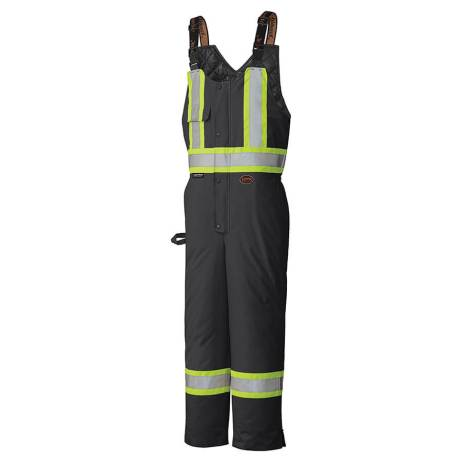 insulated black hi-viz bib