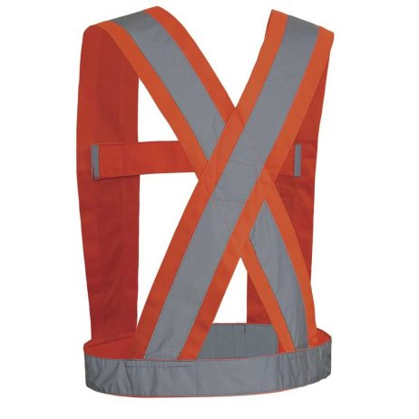 "Hi-Viz 4"" Orange Safety Sash"