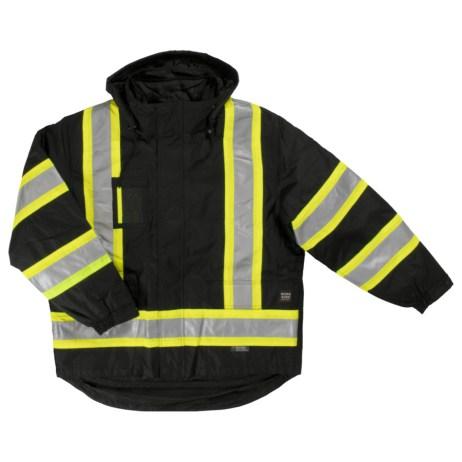 black safety jacket