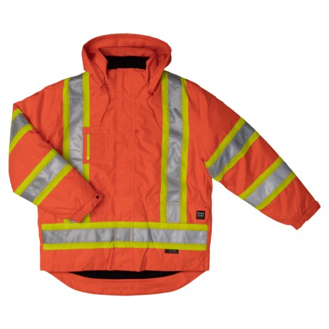 orange lined safety jacket