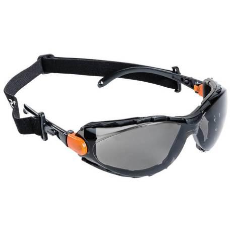 XPS502 Sealed Safety Glasses Smoke