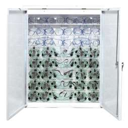 Full view of germicidal cabinet