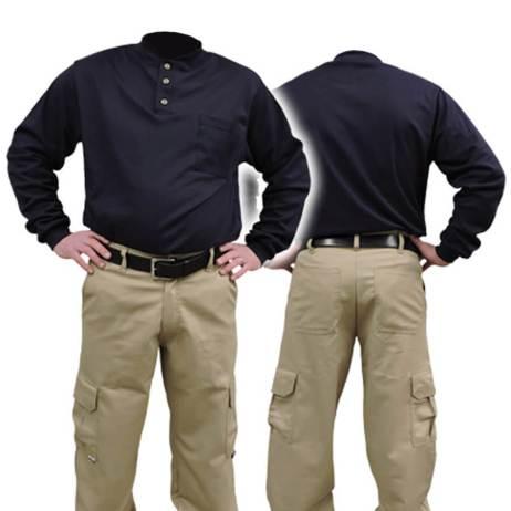 navy fire resistant fr shirt