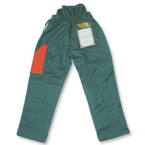 chainsaw faller pants rear view