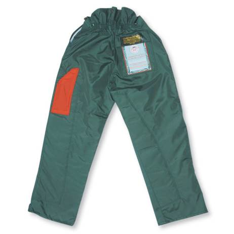 back photo of chainsaw pants