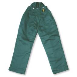 polyester chainsaw fallers pant green