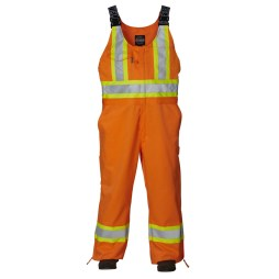 orange safety overalls