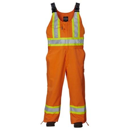 orange safety overalls