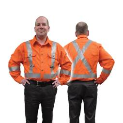 orange fire resistant shirt