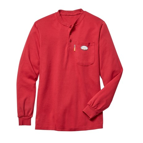 Rasco red henley shirt