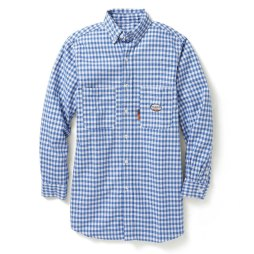 Small Print Plaid Work Shirt