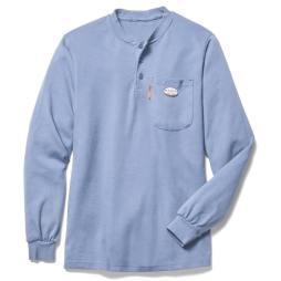 Work blue Fire resistant henley shirt
