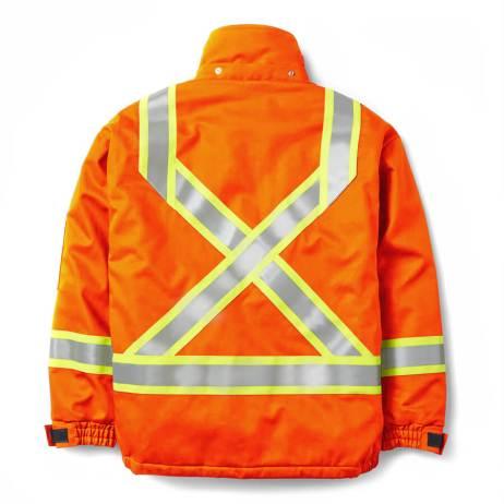 bomber jacket fire resistant orange back