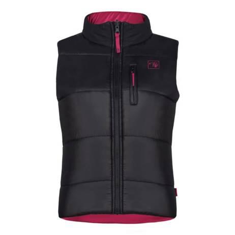 black insulated reversible women's vest