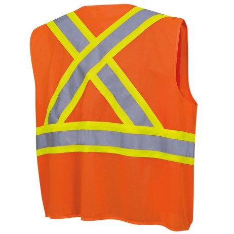 tricot hi-viz orange vest back