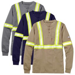 fr henley work shirt