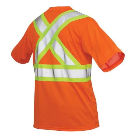 orange hi-viz mesh t-shirt