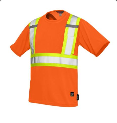 hi-viz mesh t-shirt orange