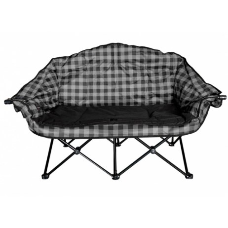 Grey Plaid Bear Buddy Chair