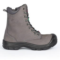 "8"" Laced Work Boots With Zipper"