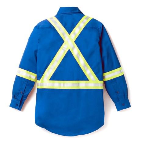 blue fr uniform shirt back