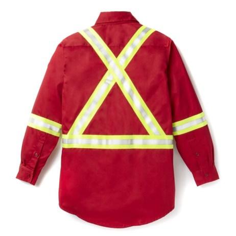 red fr uniform shirt back