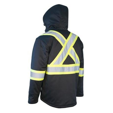 black hi vis safety jacket