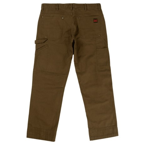 washed duck pant back