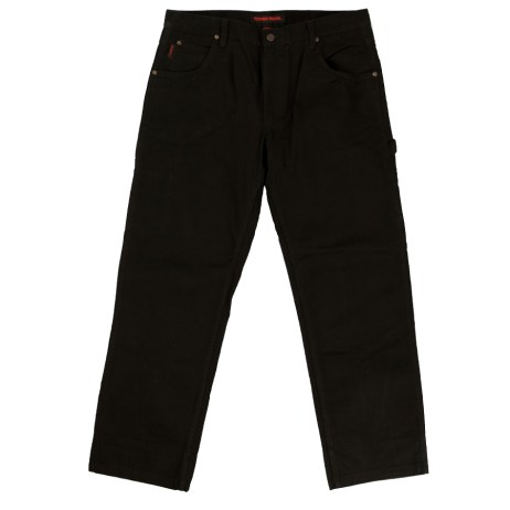 tough duck washed duck pant black