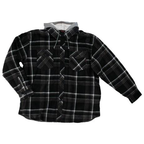 charcoal sherpa lined fleece shirt