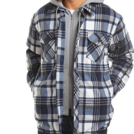sherpa lined fleece shirt