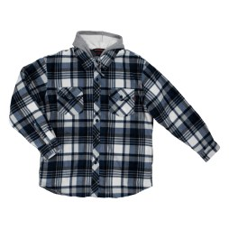 tough duck sherpa lined fleece shirt