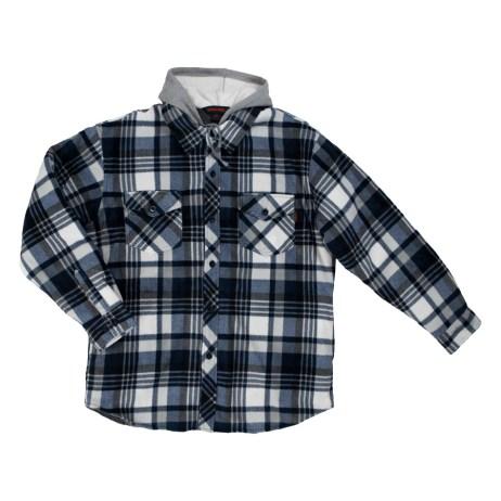 tough duck sherpa lined fleece shirt