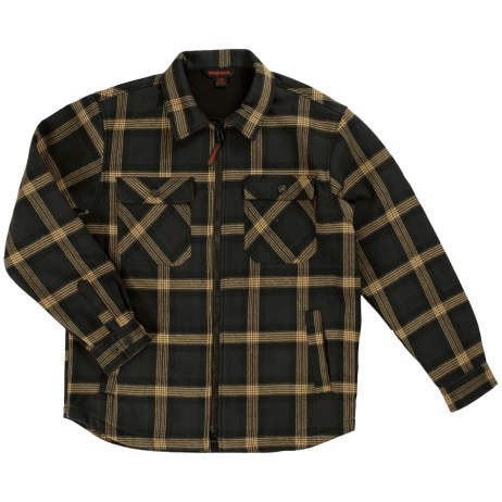 plaid zip front jack shirt