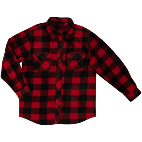 red buffalo check fleece shirt
