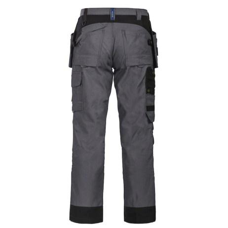 back grey multi pocket two tone pants