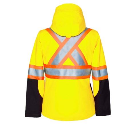 Women's Hi-Vis Softshell Jacket Back