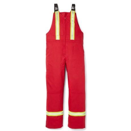 red hi vis fr bib overalls