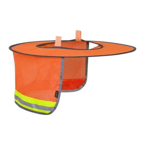Orange Foldable Hard Hat Sun Shade