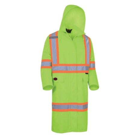 Long Yellow Rain Coat