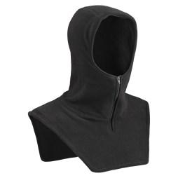 Black Micro Fleece Hood