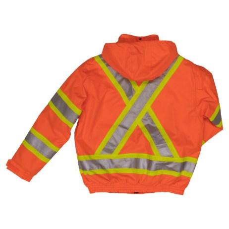orange safety bomber jacket