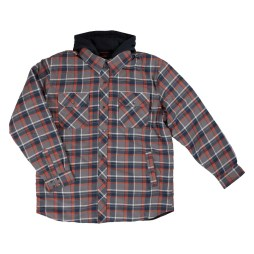 Plaid Flannel Hooded Shirt