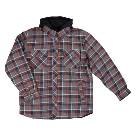 Plaid Flannel Hooded Shirt