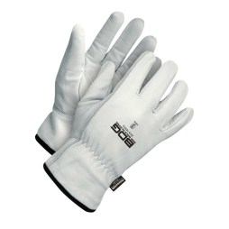 Winter White Goatskin Driver Gloves