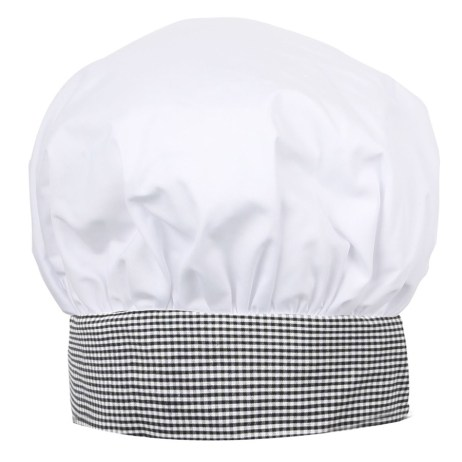 White Checkered Chef Hat