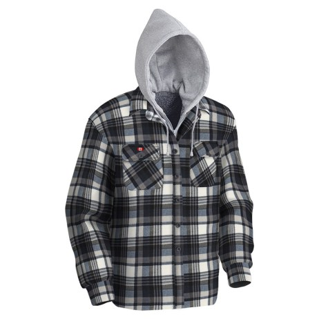 Grey and Black Plaid Hoodie