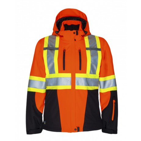Orange 3 Layer Insulated Jacket Front