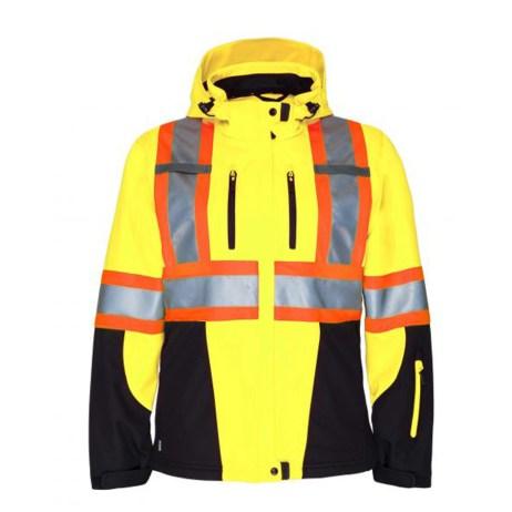 3 Layer Insulated Hi-Viz Jacket Front